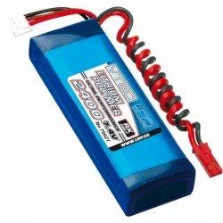Bateria lipo para receptor 2400MAh 7.4V RX (Pak 2/3A)
