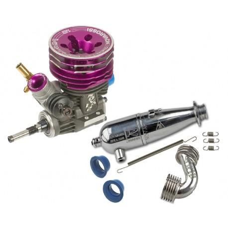 Combo - Engine Novarossi VIRTUS 12 Ceramic Bearing + Exhaust 2660