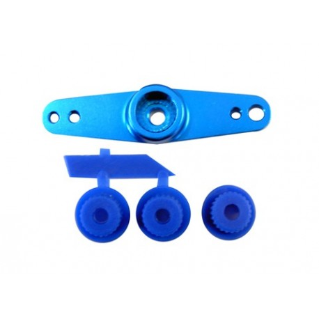 Servo arm of aluminum (double) blue