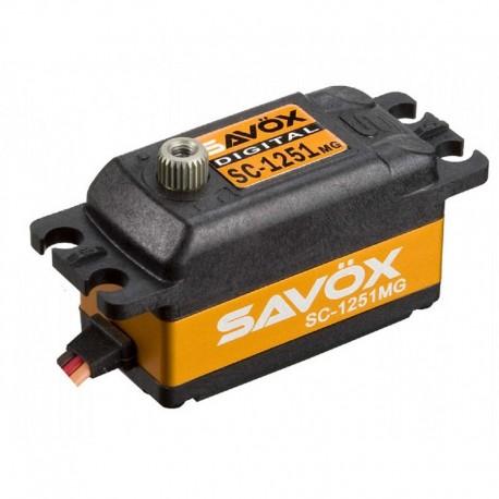 Servo digital SAVOX SC1251MG - 9 Kg - perfil bajo